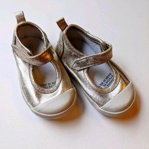 Seed heritage baby girl shoes gold mary jane
